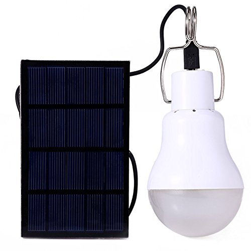 Wannabuy Solar Lighting Bulb Portable Solar Panel and LED Lights,4-6 Hours of Use of Garden, Camping, Outdoor, (Solar Power Shed)