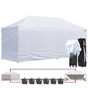 ABCCANOPY 10 X 20 Ez Pop up Canopy Tent Commercial Instant Gazebos with 9 Removable Sides  sc 1 st  Amazon.com & Amazon.com : ABCCANOPY 10 X 20 Ez Pop up Canopy Tent Commercial ...