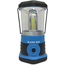Blazin' Sun - Brightest Battery Powered LED Camping Hurricane and Emergency Lantern - 800 Lumen (Blue)