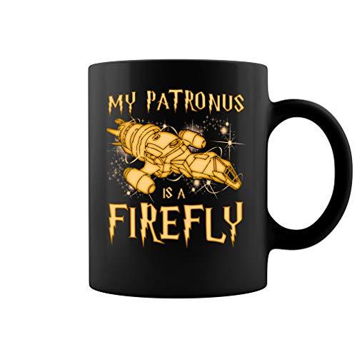 My Patronus Is A Firefly Ceramic Coffee Mug Tea Cup (11oz, Black) ()