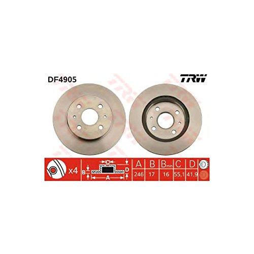 Genuine TRW Vented Brake Discs - Part Number DF4905: