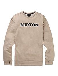 Burton Men's Oak Crew Sweatshirt, Monument Heather W17, Large