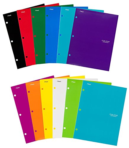 Five Star Pocket Folders, 4-Pocket, 12-1/2
