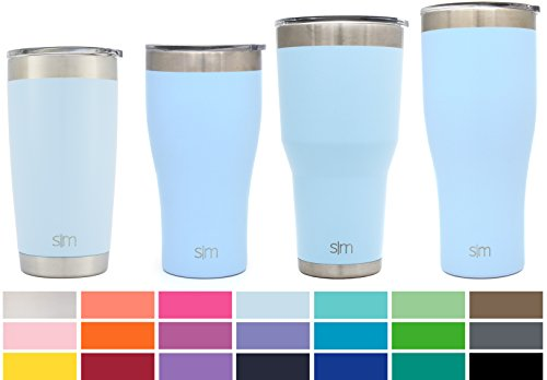 Simple Modern 36oz Slim Cruiser Tumbler - Vacuum Insulated Double-Walled 18/8 Stainless Steel Hydro Travel Mug - Coffee Cup Flask - Robin's Egg (Beverage Tumbler)