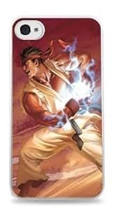 Ryu Ken Apple iPhone 4 / 4S White Plastic Case -176