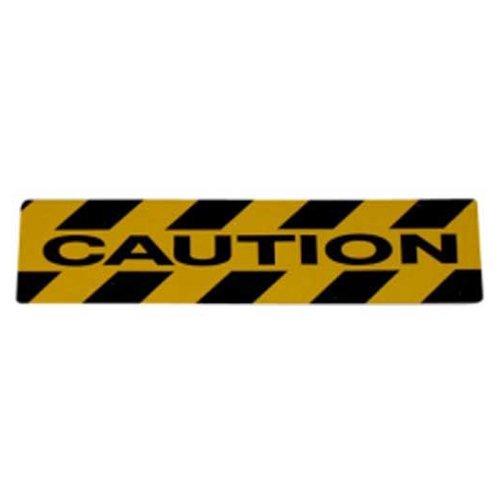 Datrex JM33606X24CAUTM, 6'' x 24'' Nonskid Safety Track Cleat - Caution, Yellow/Black, 1 Pack
