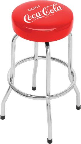 Enjoy Coca Cola Single Ring Non-Swivel Standard Barstool