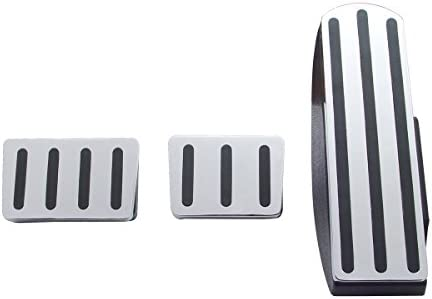 Black United Pacific Chrome Aluminum Freightliner Pedal Set W// Rubber Insert