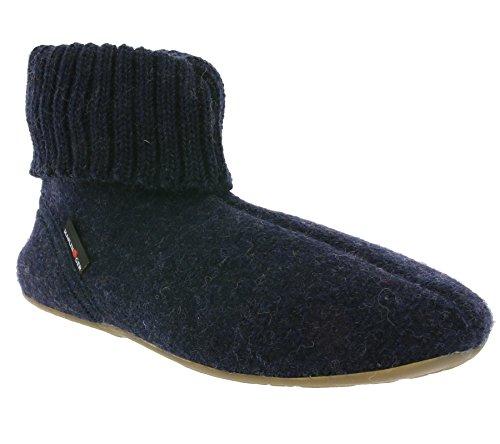 Haflinger Natural Shoes Unisex - Erwachsene Everest Karlo 481006 Blau