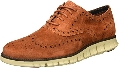 Cole Haan Men's Zerogrand Wing Ox Suede Oxford, Brandy Brown/Ivory, 11 Medium US by Cole Haan