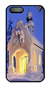 Brian114 5s Case, iPhone 5 5s Case - Fashion Style Ice House Black PC Hard Cover Case for iPhone 5 5s