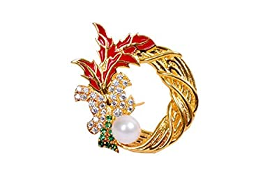 UTOPIA JAIPUR 925 Sterling Silver Brooches for Women Girls Multicolor Brooch Pins Gold Color Brooches