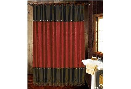 Amazon HiEnd Accents Cheyenne Western Shower Curtain Red Home