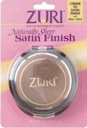 Zuri Naturally Sheer Satin Finish Pressed Powder - Pressed Powder Satin