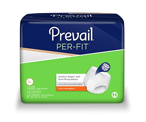 Prevail Adult Underwear, PerFit Style, Size X-Large, Full Case of 56 ()