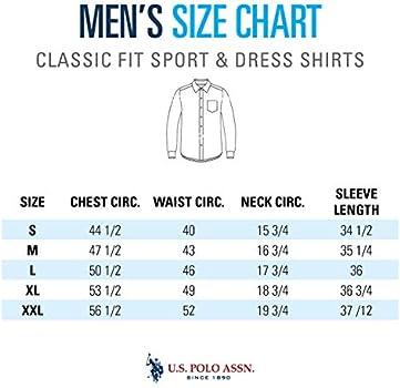 U.S. Polo Assn. Men's Solid Stretch Oxford Long Sleeve Shirt Light ...