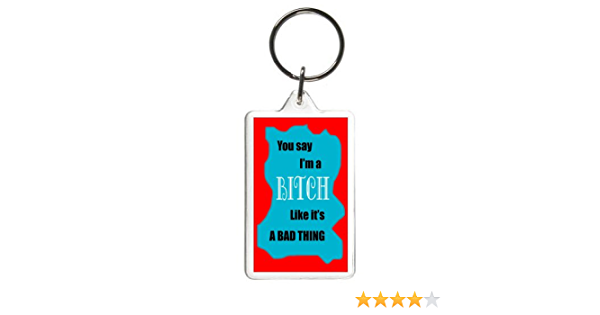 Dress Code Resting Bitch Face Rainbow Quote Bag Tag Keychain Keyring
