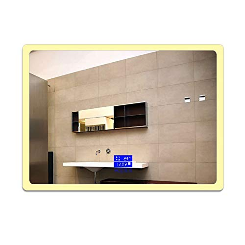Miialz-Bathroom Mirrors 900 X 700 Mm Horizontal Vertical LED Illuminated Bathroom Mirror -