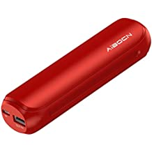 Aibocn Mini Power Bank 8000mAh Portable External Charger with Fast Charging Technology for iPhone Samsung Galaxy Tablets and More, Christmas Red