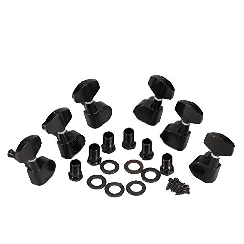 Andoer Black Lock Sealed Tuning Pegs Tuners Machine Heads 3R 3L Electric/Acoustic Guitar Parts 1000288