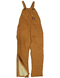 Rasco FR Insulated Bib Overalls Brown Duck with Quilt Lined BOBQ4000 Flame Resistant