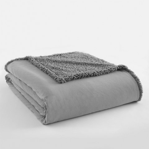 Shavel Home Products Quilted Micro Flannel and Sherpa 6-laye