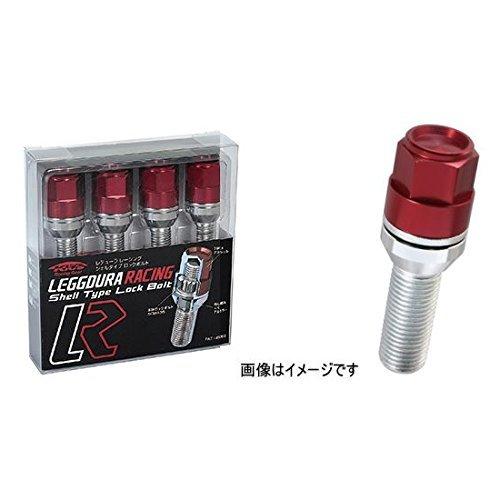 KYO-EI (協永産業) ホイールロックボルト LEGGDURA RACING Lock Bolt 【 M14 x P1.5 】 テーパー : 14R 【 首下 : 28mm 】 レッド KIL8028R B00YBOJH8M レッド レッド