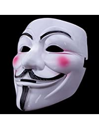 V For Vendetta Mask Guy Fawkes Halloween Costumes Masquerade Party Face