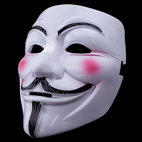 KUTECK V Vendetta Mask Guy Fawkes Halloween Costumes Masquerade Party Face