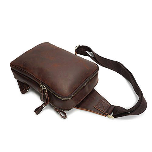 Shoulder Case Package Business Leather Bags Genuine Trip Diagonal Suitable Casual Everyday Shopping Multipurpose Men's Asdflina Carrying Use For PUxqSIq
