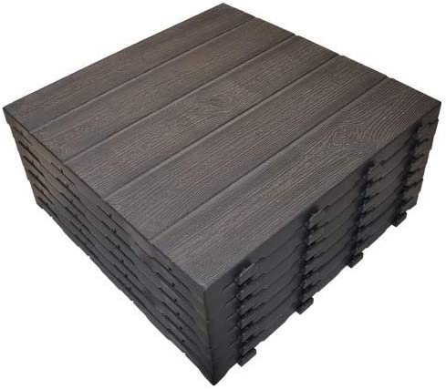 Art Plast e40lm/7 Kit 7 azulejos de polipropileno con efecto somier madera, marrón, 400 x 400 x 26.5 mm)