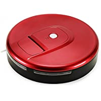 Robotic Vacuum Sweeper, Household Smart Automatic Floor Cleaner for Home and Pet Hair (Agate Red)
