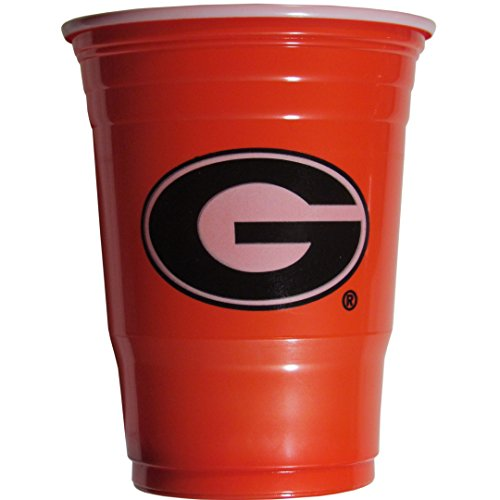 NCAA Plastic Game Day Cups, Georgia Bulldogs,18-Ounce, Sleeve of 18 - Shopping Athens Georgia