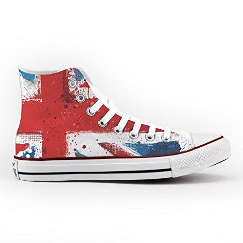 Converse Personalizzate All Star Alta - scarpe artigianali - Vintage England Multicolor La Cantidad De La Venta En Línea wpgCgPOHSt