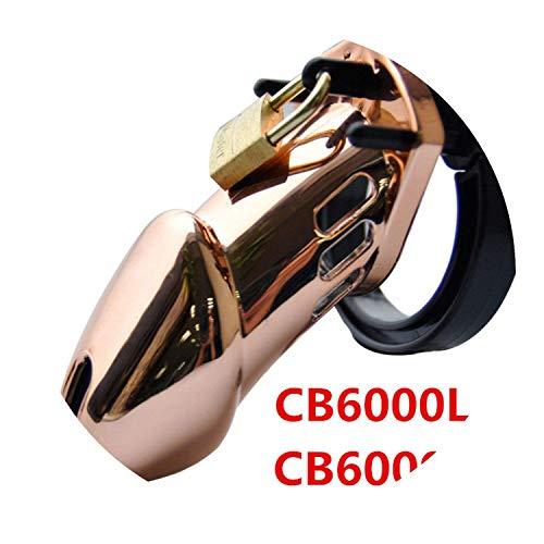(First Rose Gold Designer Male Chástí-ty Cage Lavish and luxurish Standard CB6000 CB6000S Chástí-ty with 5 Rings G208,Rose Gold,CB6000S T-Shirt)