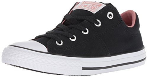 (Converse Girls' Chuck Taylor All Star Madison Low Top Sneaker Black 3 M US Little)