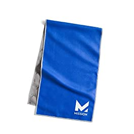 "Mission Original Cooling Towel- Evaporative Cool Technology, Cools Instantly When Wet, UPF 50 Sun Protection, for Sports, Yoga, Golf, Gym, Neck, Workout, 10"" x 33"""