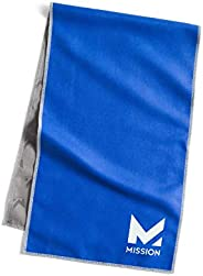 Mission Original Cooling Towel- Evaporative Cool Technology, Cools Instantly When Wet, UPF 50 Sun Protection,