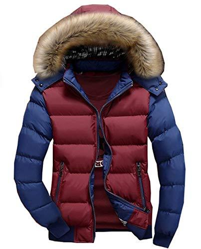 Cappotto Cappotto Cappotto in Unico Leggero Invernale Invernale Invernale BIRAN Uomo Redblue Piumino Cappuccio da Cotone Leggero con Lungo con Cappuccio qg1q0YIw