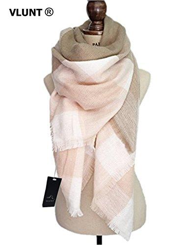 VLUNT® Damen Winter klassische Schal lange weich Wraps grosse Schal