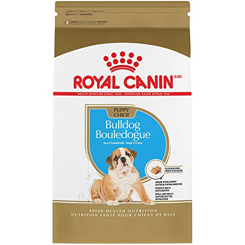 Royal Canin Breed Health Nutrition Bulldog Puppy Dry Dog Food, 30-Pound