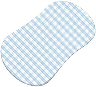 product image for SheetWorld Fitted Bassinet Sheet (Fits Halo Bassinet Swivel Sleeper) - Blue Gingham Jersey Knit - Made In USA