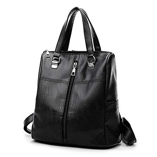 (Lyperkin Double Shoulder Bag Vintage Girl Leather School Bag Backpack Satchel Women Travel Shoulder Bag Durable Laptops Backpack Casual Daypacks College School Computer Bag for Women Men N-73)