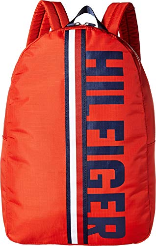 (Tommy Hilfiger Men's Knox Hilfiger Rip Stop Nylon Backpack Red One Size)