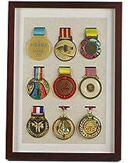 ZZPP Marathon Medaille Display Frame Muur Opknoping Honor Gouden Medaille Zilveren Medaille Badge Creatieve Fotolijst Opbergdoos Ingelijst