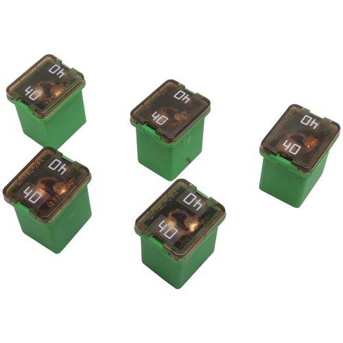 40 Amp 58V Low Profile J-Case Green Cartridge Fuses (5 Pack) Littelfuse LJCA40