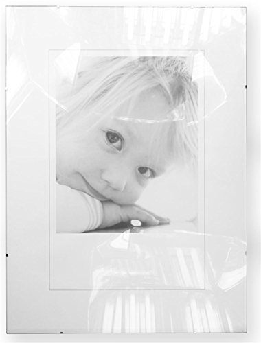 Tempered Glass Clip Photo Frame with Frameless Design Holds 17.75 x 23.75-Inch Prints - Design Chipboard Picture Frame