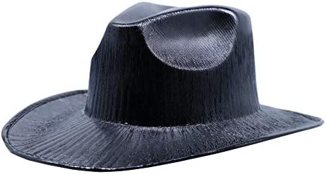 wholesale outlet store outlet on sale Arsimus Metallic Cowboy Hat (Black): Buy Online at Best Price in ...
