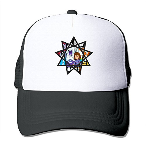 Fav Undertale Star Crest Mesh Trucker Hat Adjustbale Cap (Trucker Hat Crest)