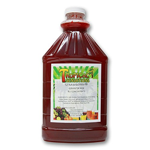 Strawberry Frozen Drink Mix, Tropical Sensations, 1 bottle (64 oz.)